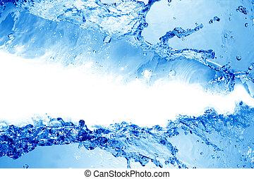 gyönyörű, víz, loccsanás