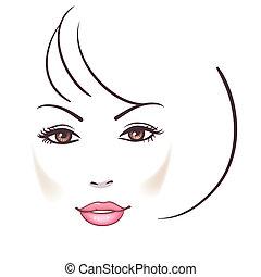 gyönyörű woman, arc