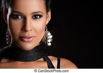 gyönyörű woman, latin