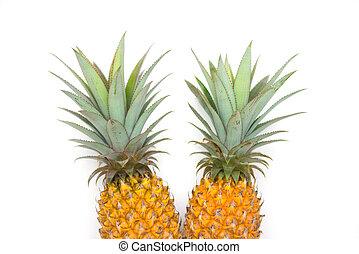 gyümölcs, érett, ananász