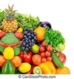 gyümölcs, és, növényi