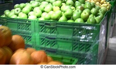 gyümölcs, alatt, bolt