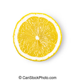 gyümölcs, citrom, érett