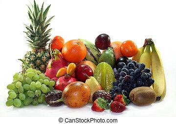 gyümölcs, elegyít