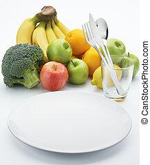 gyümölcs, helyett, egészséges