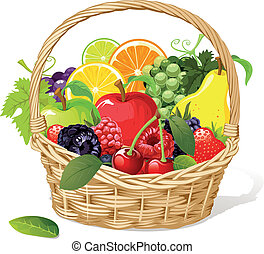 gyümölcs kosár
