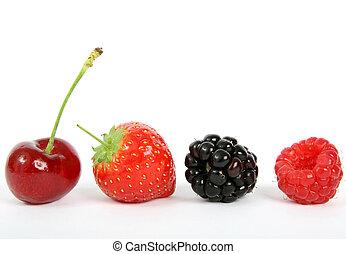gyümölcs, színes, érett