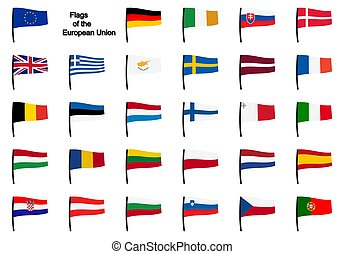 gyűjtés, eu, zászlók