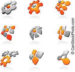 gyűjtés, közül, elvont, vektor, tervezés elem