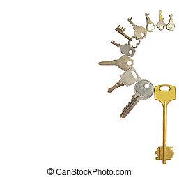 gyűjtés, kulcsok, isolat