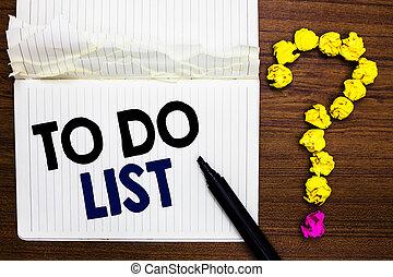 gyűrött, fénykép, usualy, dolgozat, könyvjelző, írás, elkészített, kérdőjel, jegyzet, háttér., ügy, alakítás, kiállítás, jegyzetfüzet, szerkezet, feladat, fából való, contining, list., showcasing, yours