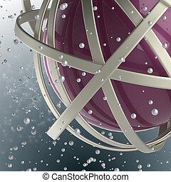 gyűrű, többszínű, gömb, savanyúcukorka, felhő, 3