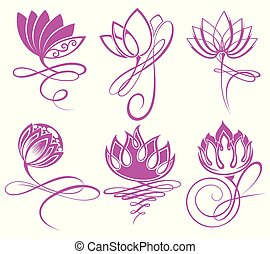 gy39.eps - Beauty Vector Lotus flowers design logo Template...