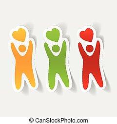 gyakorlatias, element:, tervezés, boldogság, emberek