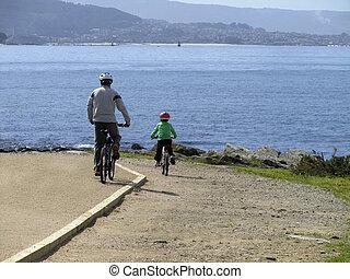 gyalogló, bicikli