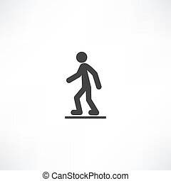 gyalogló, ember