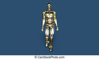 gyalogló, robot