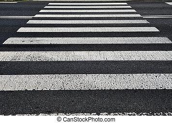 gyalogos, crossing., szállítás, háttér, struktúra