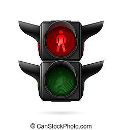 gyalogos, közlekedési lámpa