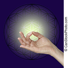 Gyan Mudra and the Flower of Life