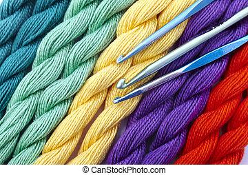 gyapjú, színes
