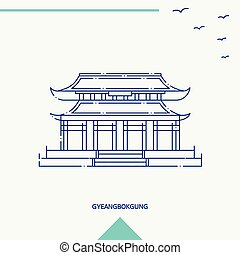 gyeangbokgung, スカイライン, ベクトル, イラスト