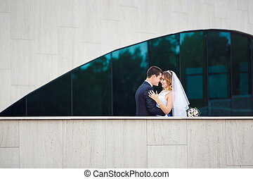 gyengédség, párosít, esküvő