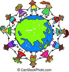 gyerekek, ázsiai