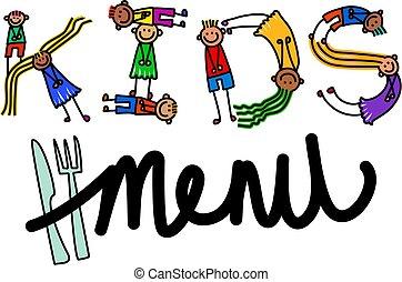 gyerekek, étrend, cím, szöveg