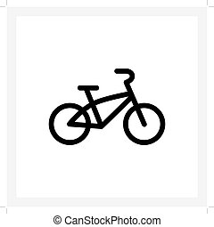 gyerekek, bicikli, ikon