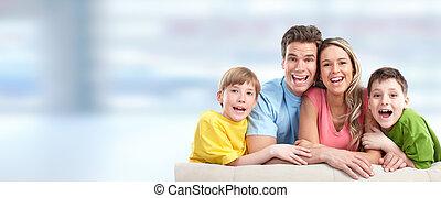 gyerekek, család, boldog