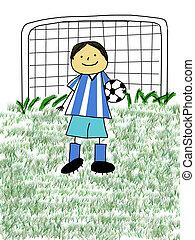 gyerekek, futball