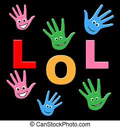 gyerekek, haha, lol, jelez, nevet, hangos, ki