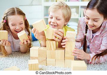 gyerekek, játék