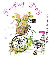 gyerekek, leány, bicikli