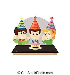 gyerekek, születésnapi parti