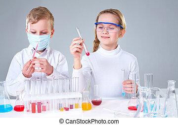 gyerekek, tudósok