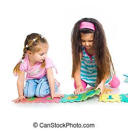 gyerekek, vannak, játék, irodalomtudomány
