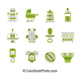 gyermek, csecsemő, és, csecsemő, online bevásárol