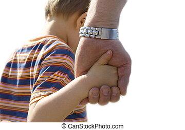 gyermek, noha, atya