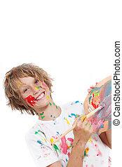 gyermekek festmény