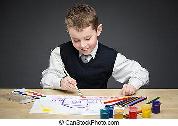 gyermekek festmény, valami