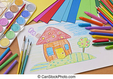 gyermekek rajz