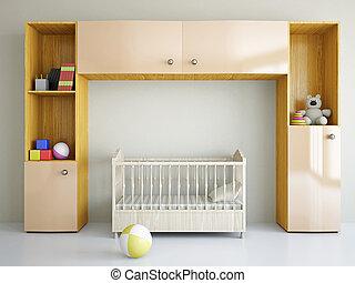 gyermekszoba, ágy