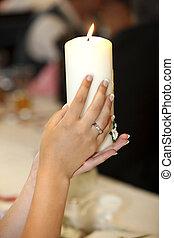 gyertya, esküvő
