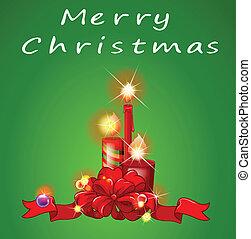gyertya, karácsony, sablon