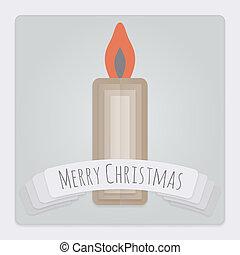 gyertya, karácsonyi üdvözlőlap