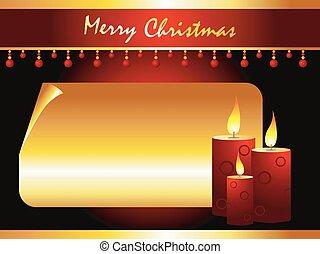 gyertya, vektor, művészet, karácsony