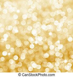 gylden, abstrakt, baggrund