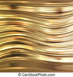 gylden, begreb, striber, vektor, baggrund, skinnende